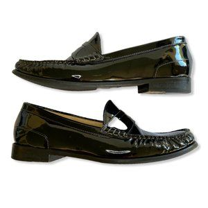 COLE HAAN Women's Nike Air Black Slip On Loafers
